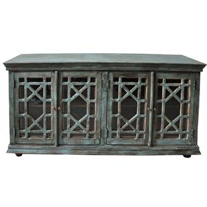 Jaipur Furniture Guru Guru Washed Green 4-Door Sideboard