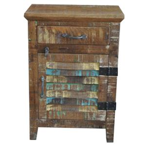 Jaipur Furniture Guru Louver Nightstand