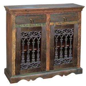 Jaipur Furniture Morya Ashoka Traditional Cast Iron 4 Drawer 4 Door Sideboard Fmg Local Home