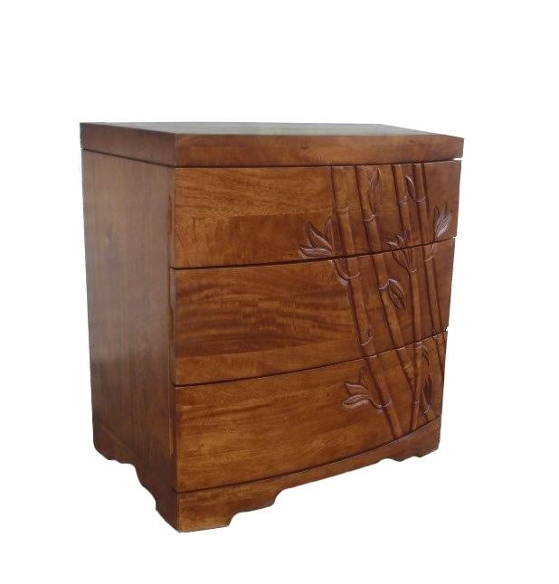 Foliage 3 Drawer Nightstand by Jamieson Import Services, Inc. at HomeWorld Furniture