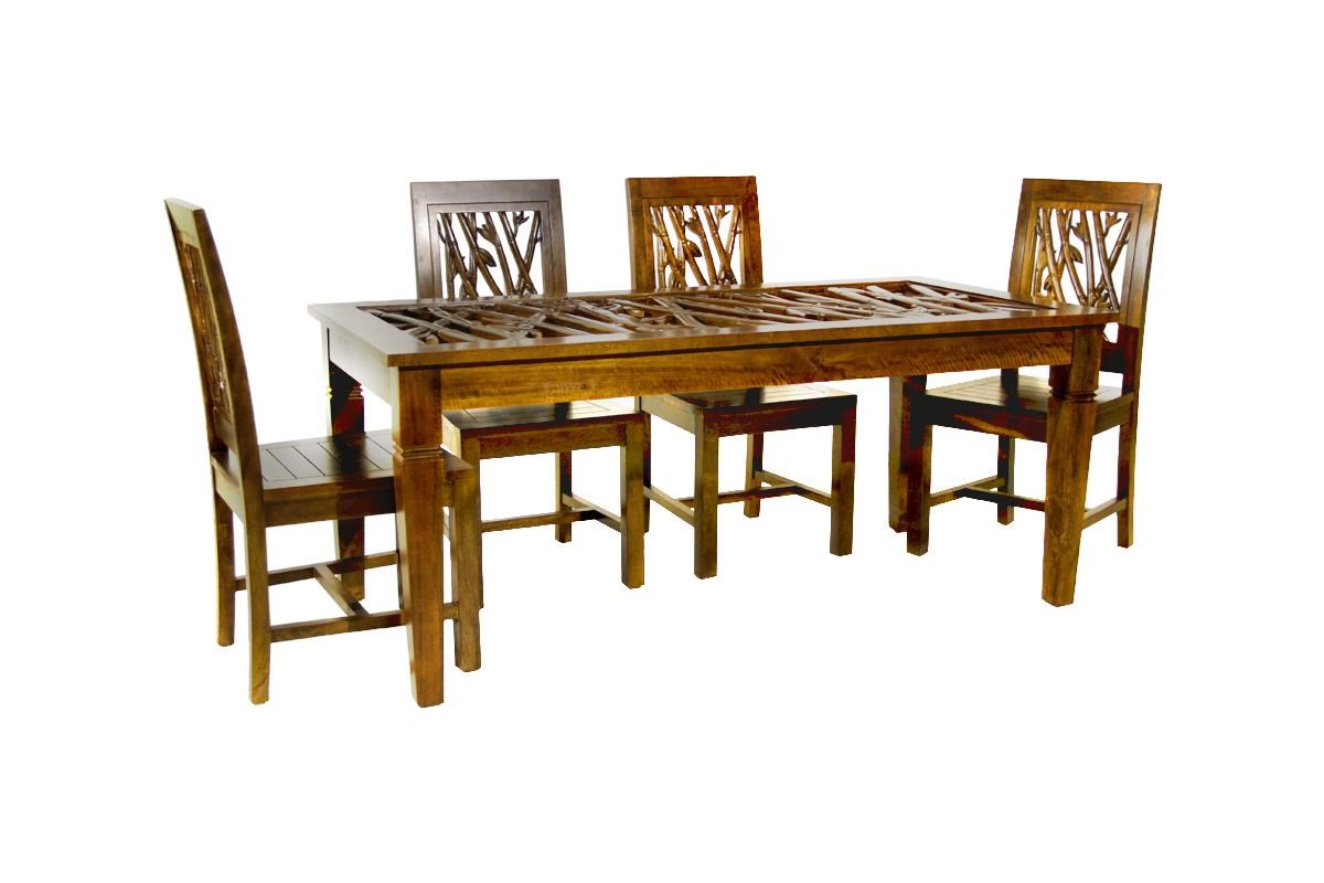 Foliage 5 Piece Dining Package by Jamieson Import Services, Inc. at HomeWorld Furniture