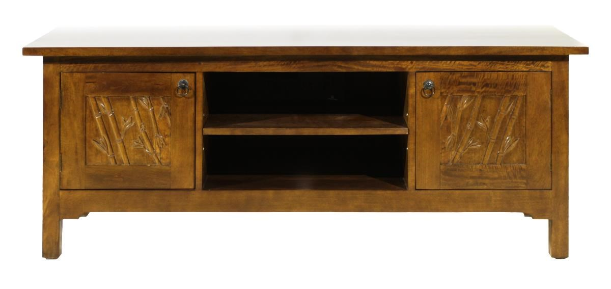 Foliage 2 Door Media Stand by Jamieson Import Services, Inc. at HomeWorld Furniture