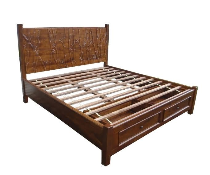 Foliage Queen Storage Bed by Jamieson Import Services, Inc. at HomeWorld Furniture