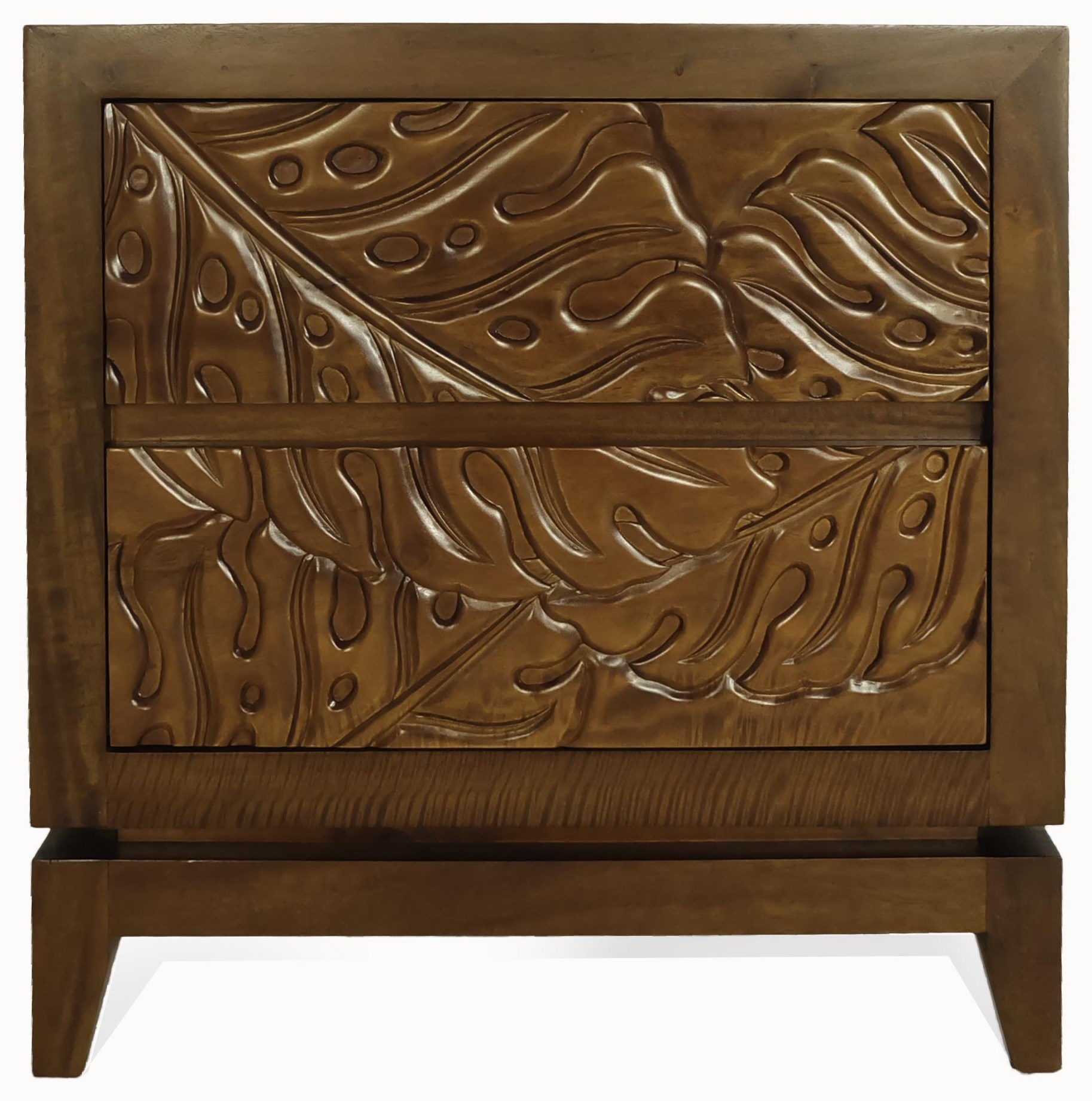 Monstera 2 Drawer Nightstand by Jamieson Import Services, Inc. at HomeWorld Furniture