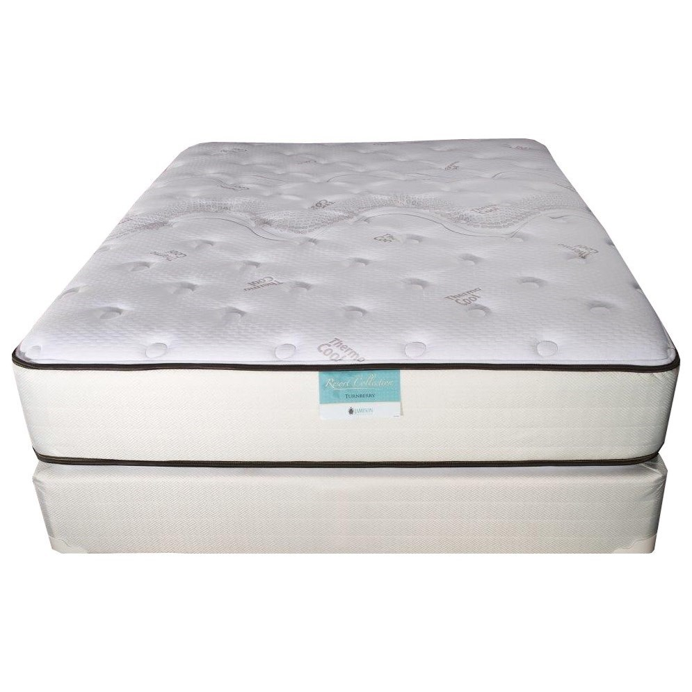 Marbella Plush Queen Two Sided Mattress Set by Jamison Bedding at Virginia Furniture Market
