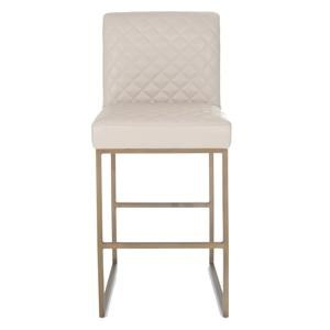 """30"""" Quilted Leather Bar Stool"""