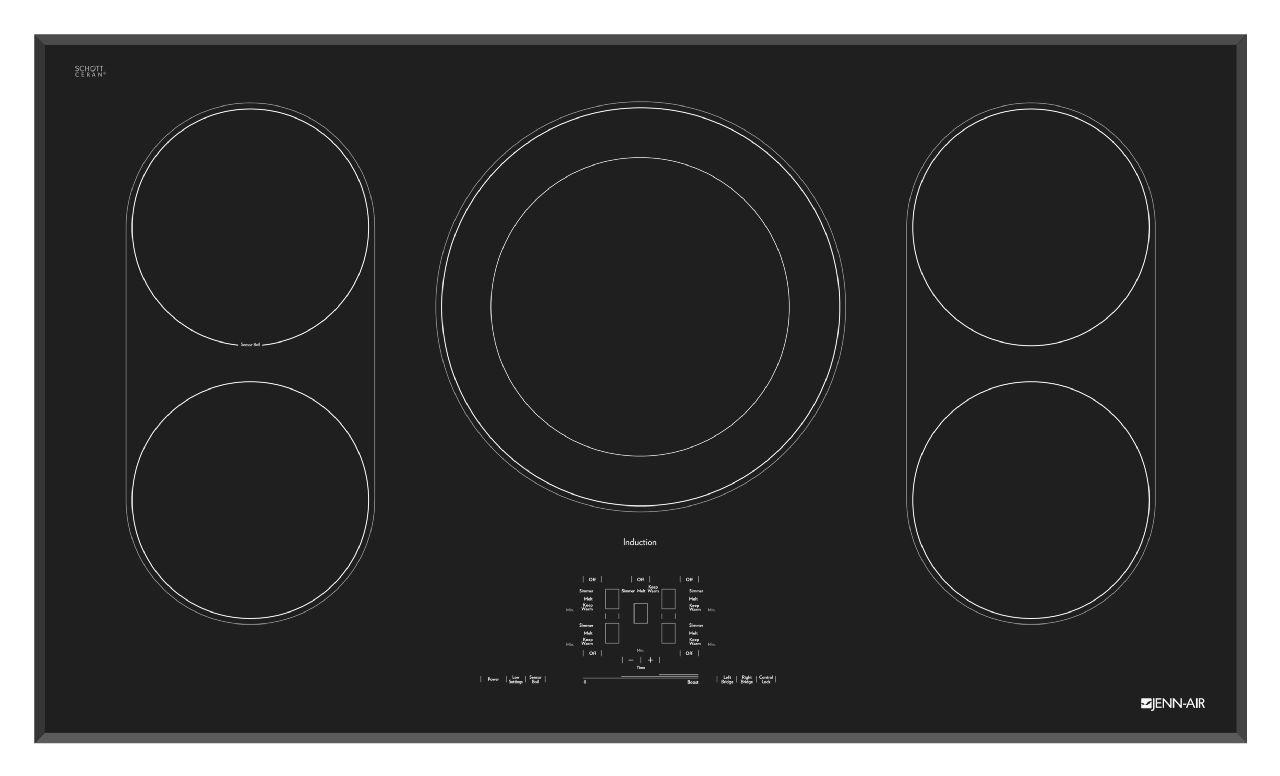"""Cooktops - Electric 36"""" Induction Cooktop by Jenn-Air at Furniture and ApplianceMart"""