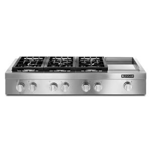 "48"" Pro-Style® Gas Rangetop with Electric Griddle"