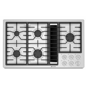"36"" JX3™ Gas Downdraft Cooktop with DuraFinish™ Protection"