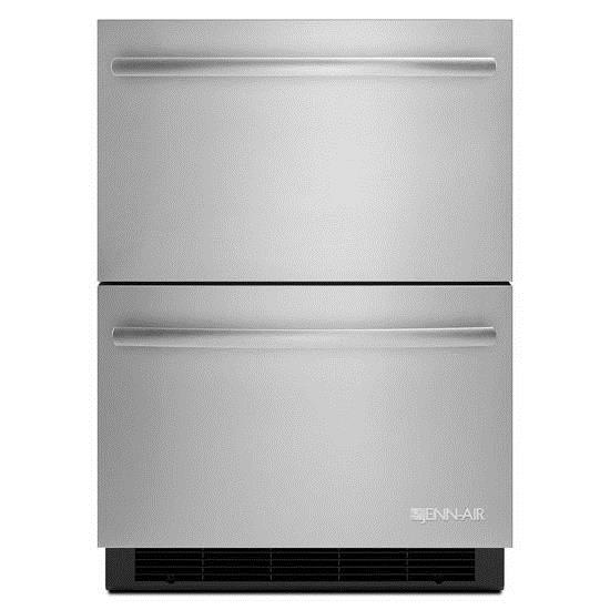 """Special Compact Refrigeration 24"""" Double-Refrigerator Drawers by Jenn-Air at Furniture and ApplianceMart"""