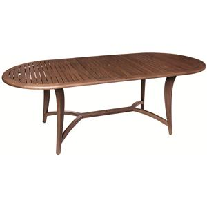 Jensen Leisure Topaz Butterfly Oval Extension Table