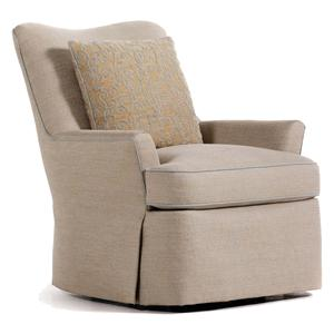 Jessica Charles Fine Upholstered Accents Durban Swivel Rocker