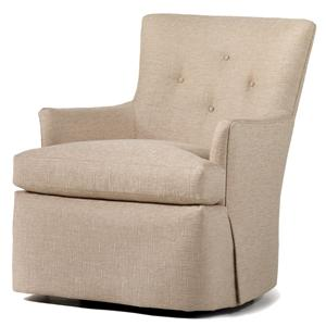 Jessica Charles Fine Upholstered Accents Beverly Swivel Rocker