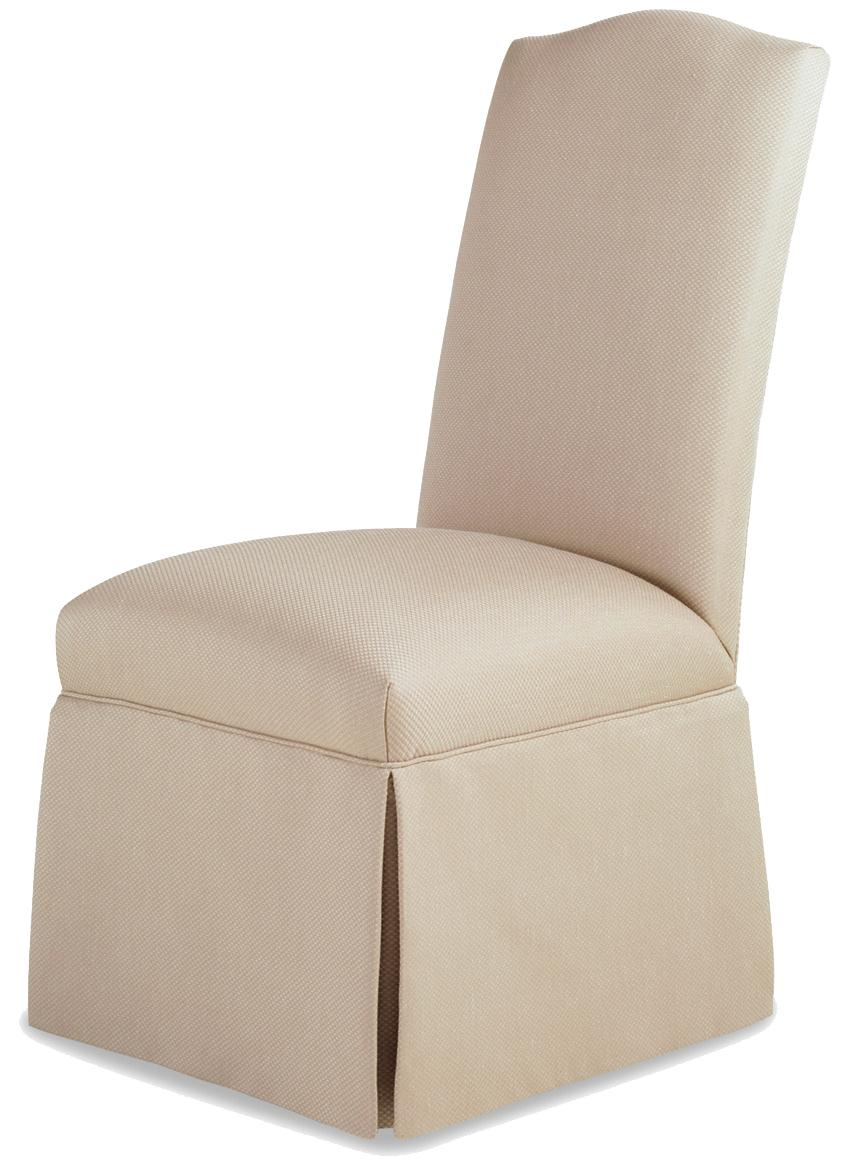 Fine Upholstered Accents Petra Skirted Armless Chair    by Jessica Charles at Alison Craig Home Furnishings
