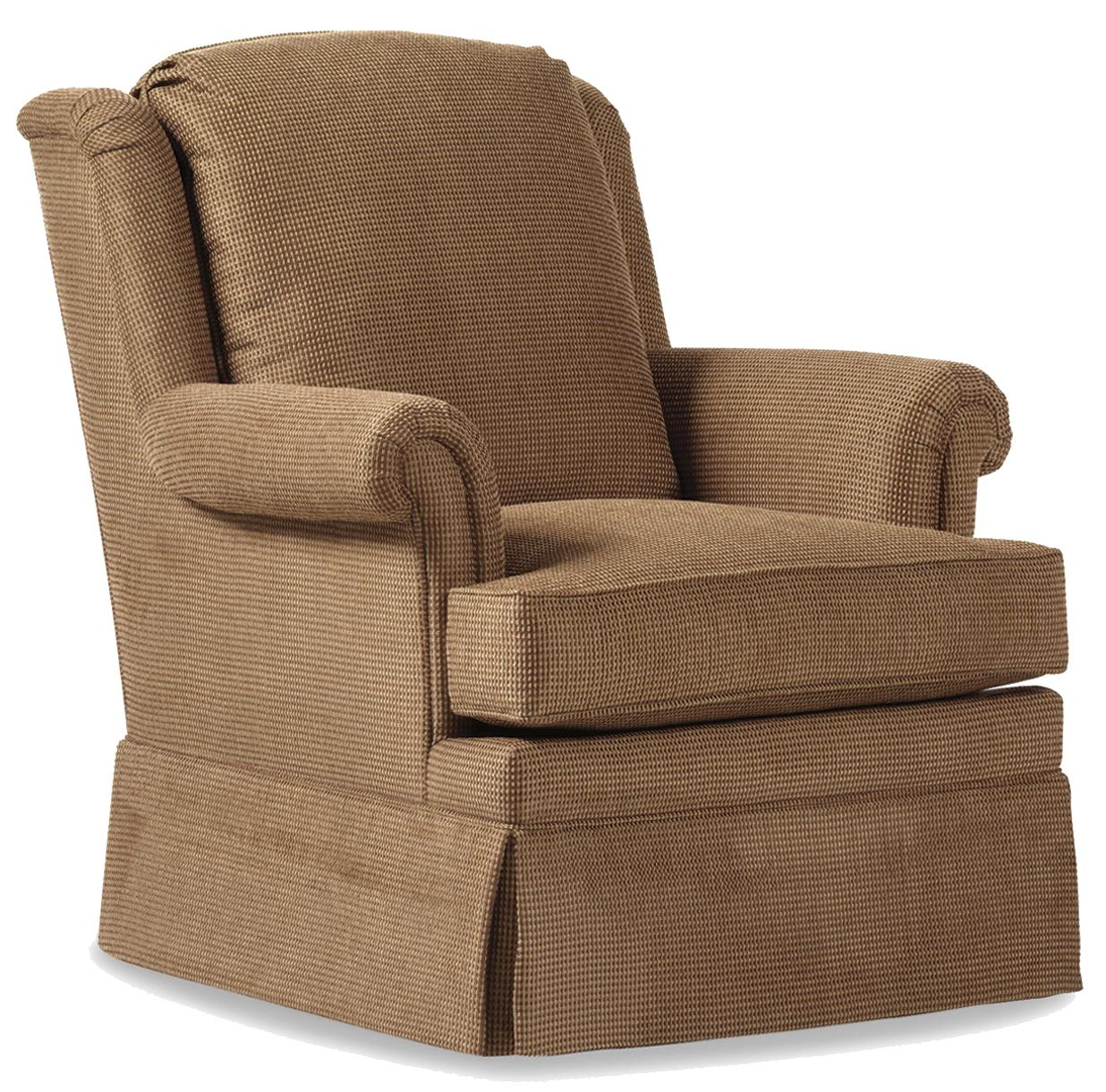 Fine Upholstered Accents Brooklyn Swivel Rocker    by Jessica Charles at Alison Craig Home Furnishings