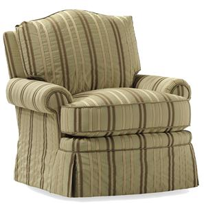 Jessica Charles Fine Upholstered Accents Marshall Swivel Rocker