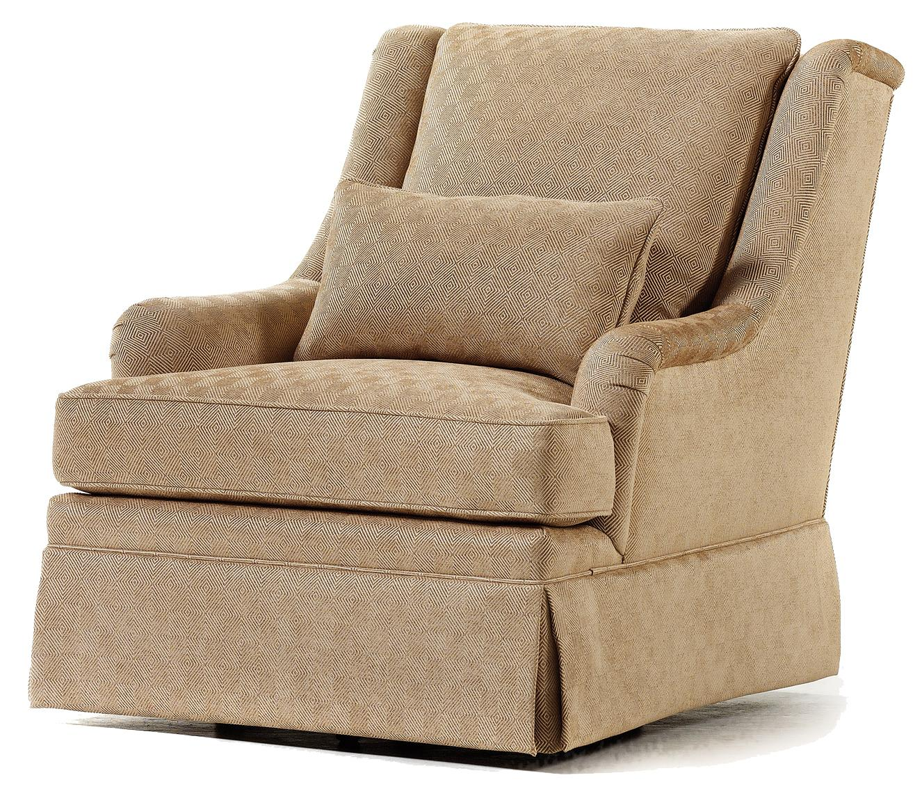 Fine Upholstered Accents Winston Swivel Rocker    by Jessica Charles at Alison Craig Home Furnishings