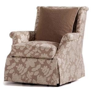 Jessica Charles Fine Upholstered Accents Maddy Swivel Rocker