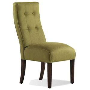 Jessica Charles Fine Upholstered Accents Baye Exposed Wood Armless Chair