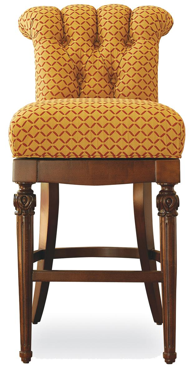 Fine Upholstered Accents Nicolae Memory Swivel Bar Stool by Jessica Charles at Alison Craig Home Furnishings