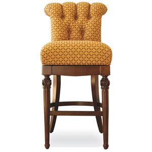 Jessica Charles Fine Upholstered Accents Nicolae Memory Swivel Bar Stool