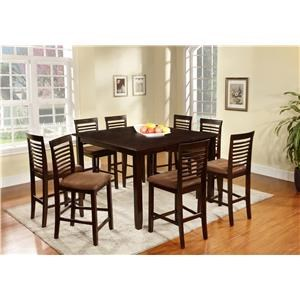 9-Pc Counter Height Table with 8 Stools