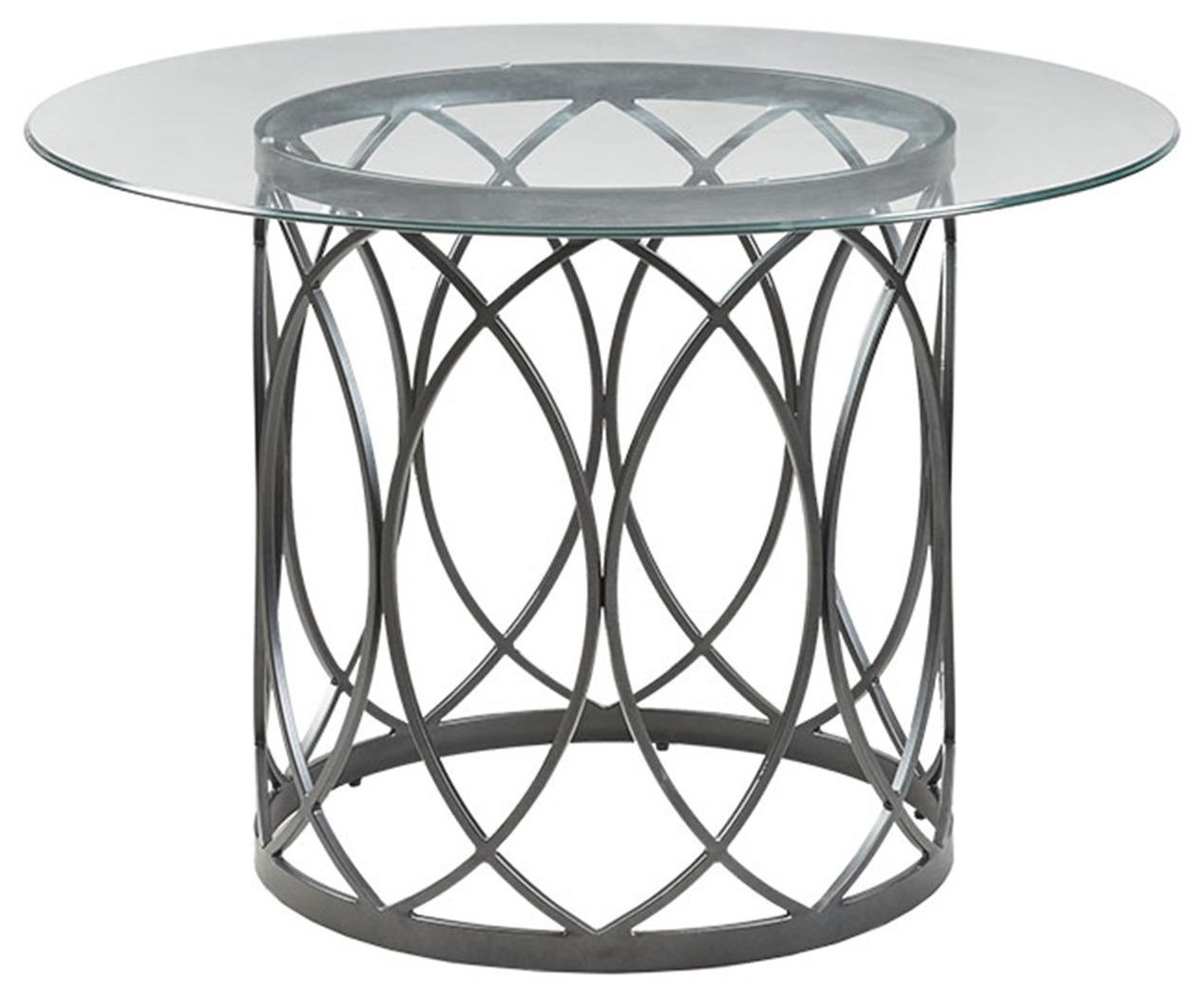 Home Accents Metal and Glass Round Table at Belfort Furniture