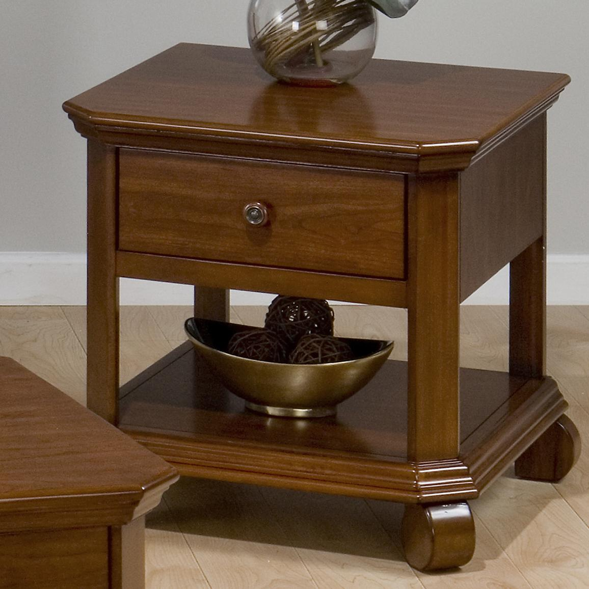 Occasional Tables Square End Table with Drawer and Shelf by Jofran at Pilgrim Furniture City