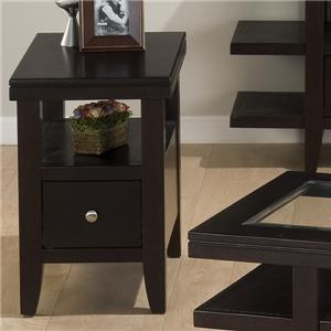 Chairside Table w/ Drawer & Shelf
