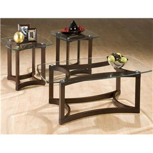 3-Pack Casual Glass Top Occasional Table Set