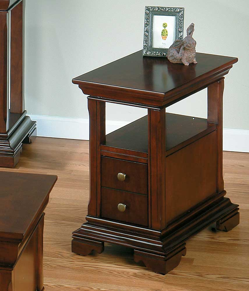 Regal Cherry Chairside Table by Jofran at Pilgrim Furniture City