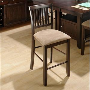 Jofran Bakery's Cherry Slat Back Counter Height Stool