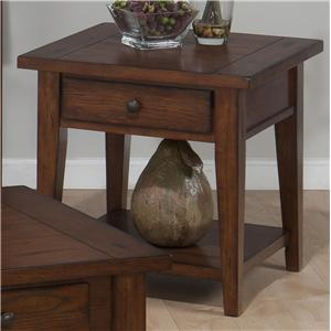 Jofran Clay County Oak Square End Table