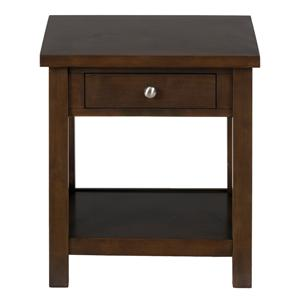 "Casual ""X"" Side 1-Drawer 1-Shelf End Table"