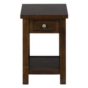 "Casual ""X"" Side 1-Drawer 1-Shelf Chairside Table"