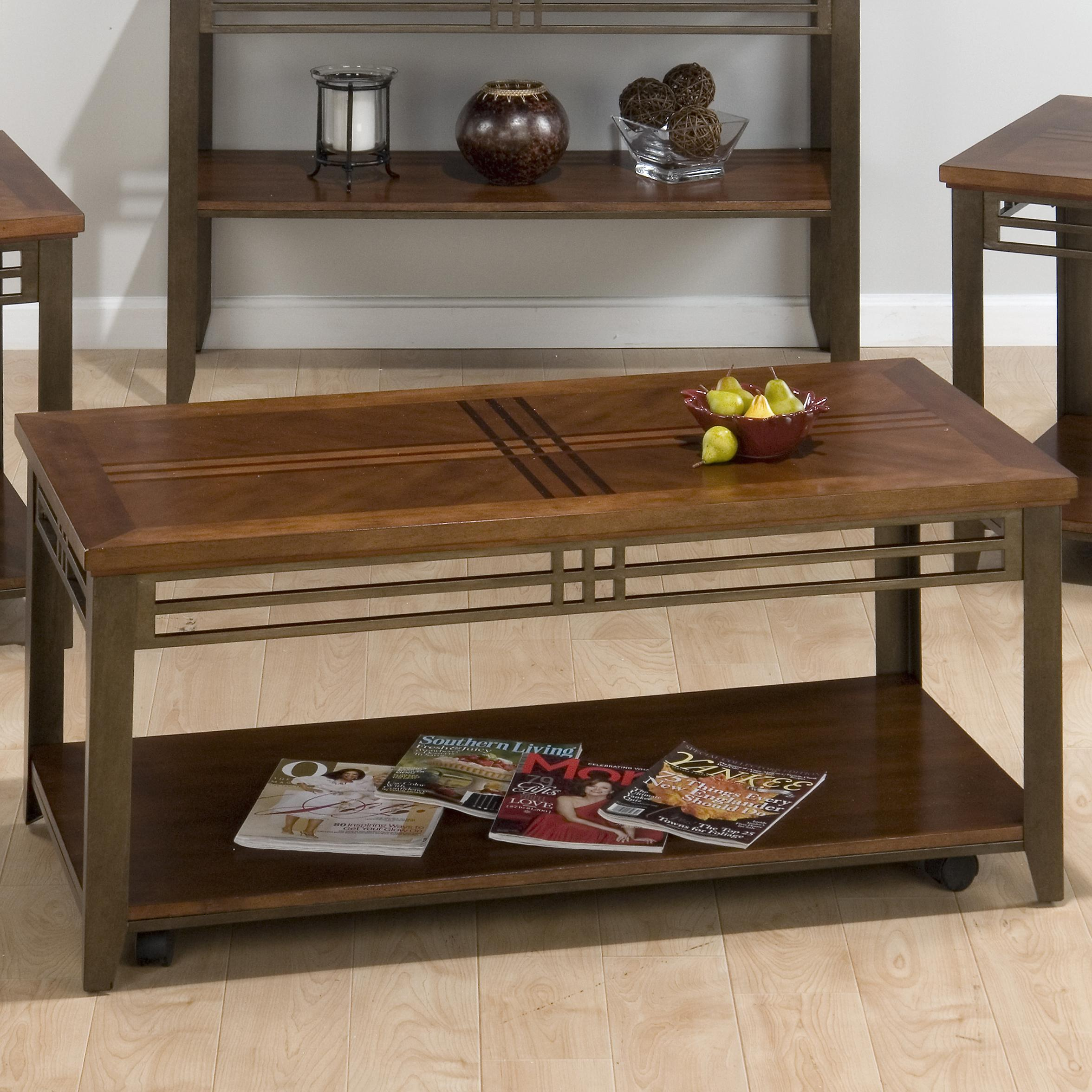 Barrington Cherry Rectangular Cocktail Table by Jofran at Coconis Furniture & Mattress 1st