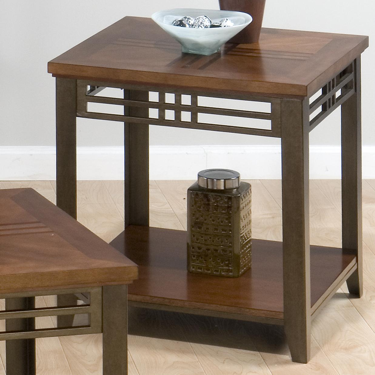 Barrington Cherry End Table by Jofran at Coconis Furniture & Mattress 1st