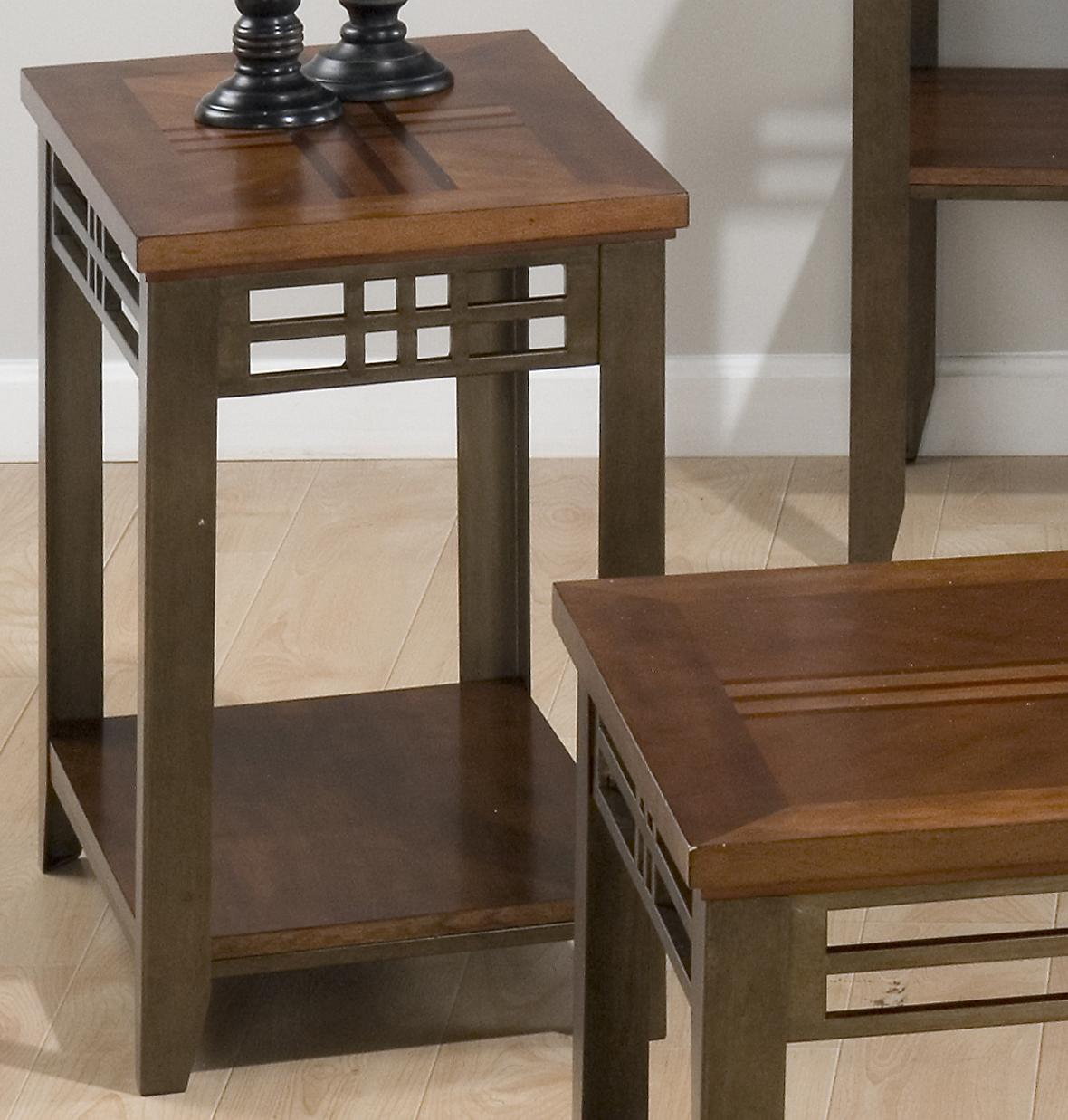 Barrington Cherry Chairside Table by Jofran at Coconis Furniture & Mattress 1st