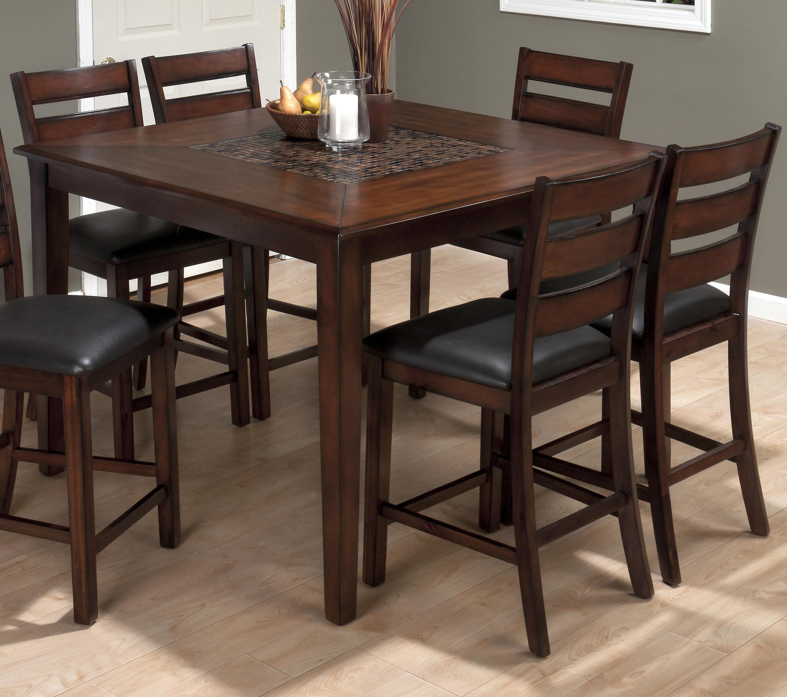 Baroque Brown 5 Piece Counter Height Dining Set by Jofran at Pilgrim Furniture City
