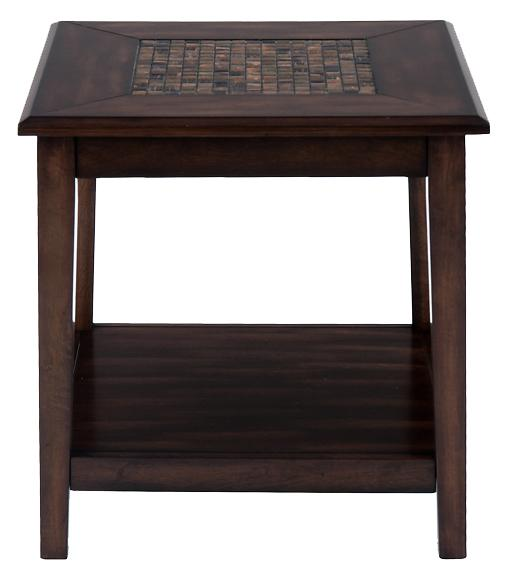 Baroque Brown End Table by VFM Signature at Virginia Furniture Market