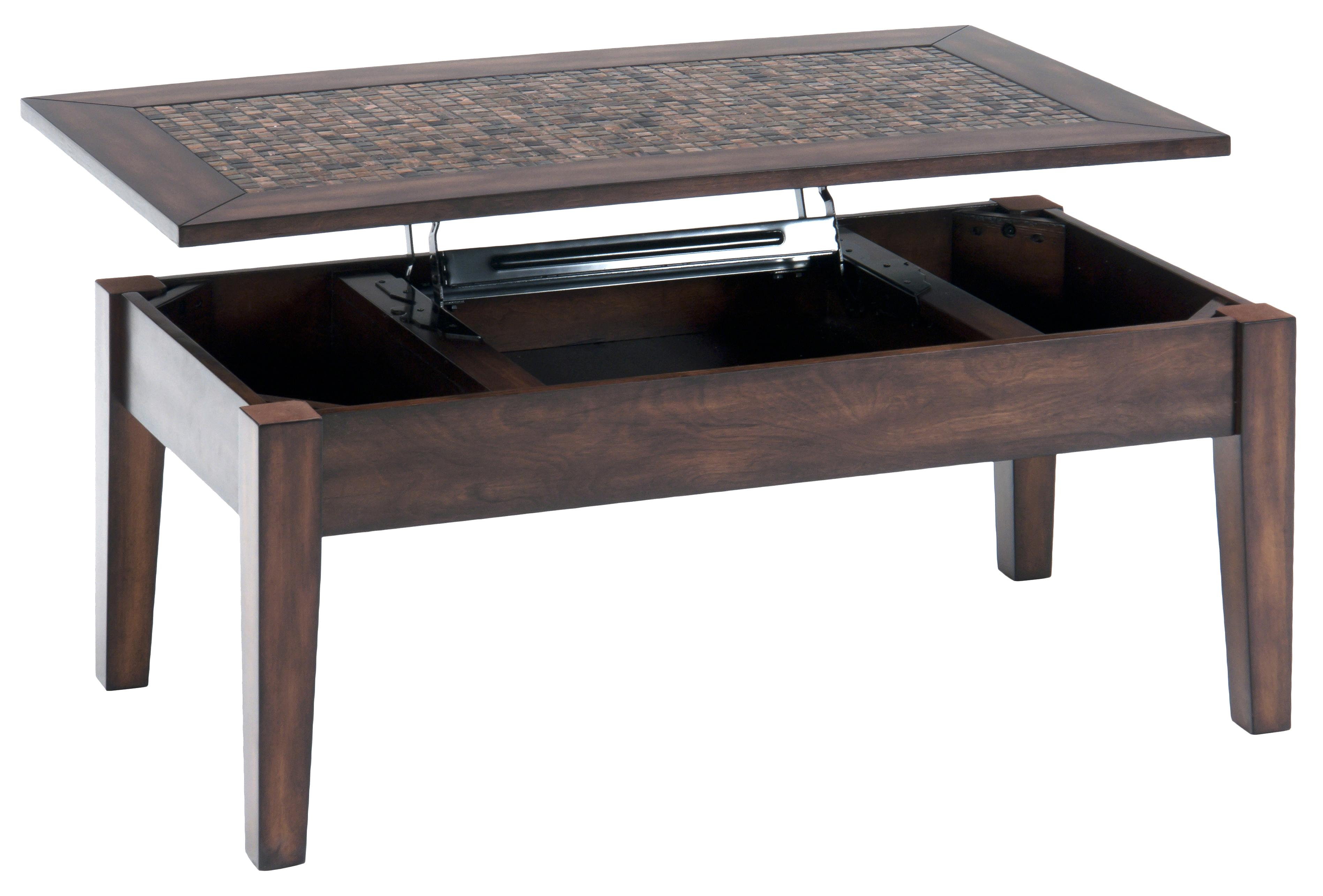 Baroque Brown Lift Top Cocktail Table by Jofran at Furniture and ApplianceMart