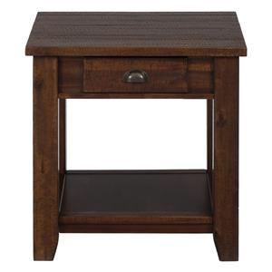 Casual End Table with One Drawer and One Shelf