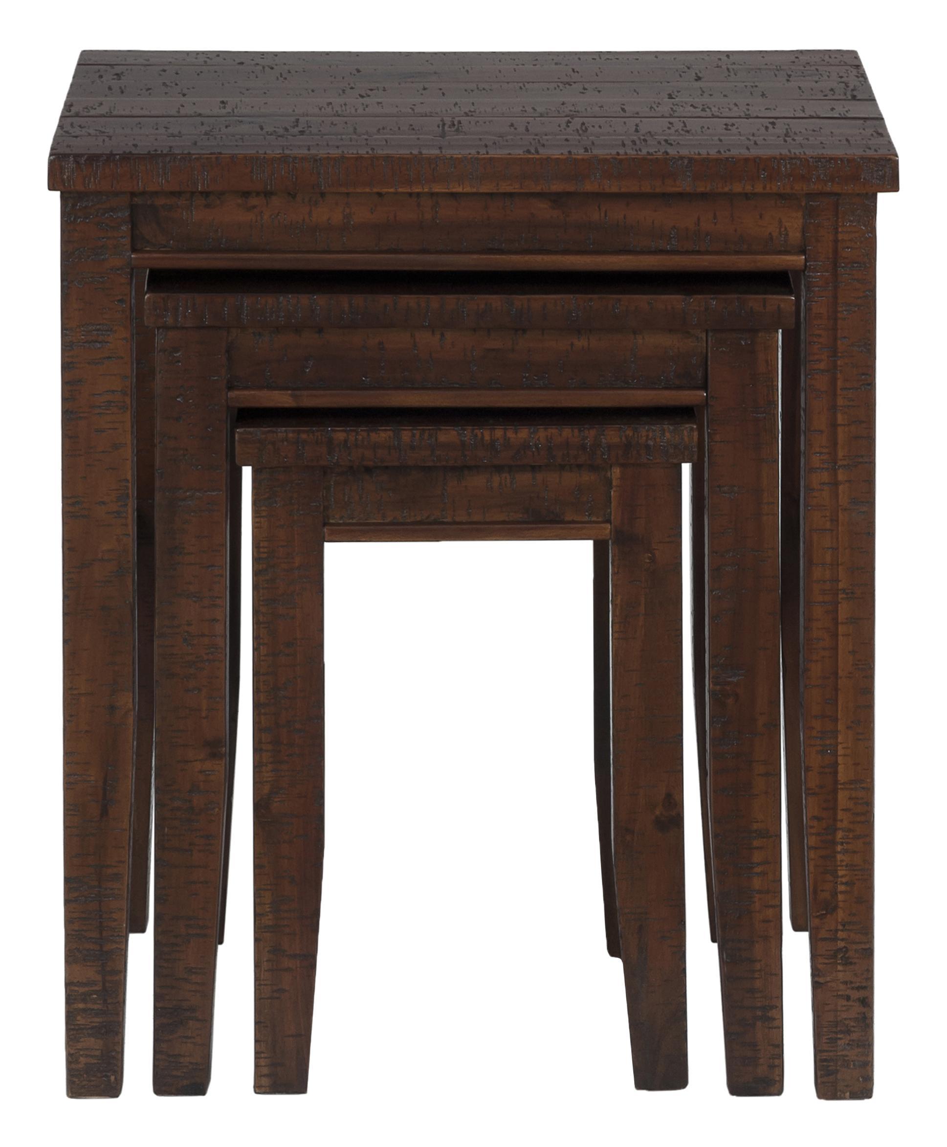 Urban Lodge Brown 3 Nesting Chairside Table by Jofran at Pilgrim Furniture City