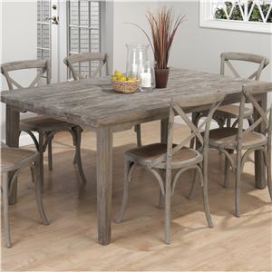 Jofran Burnt Grey Rectangle Leg Table