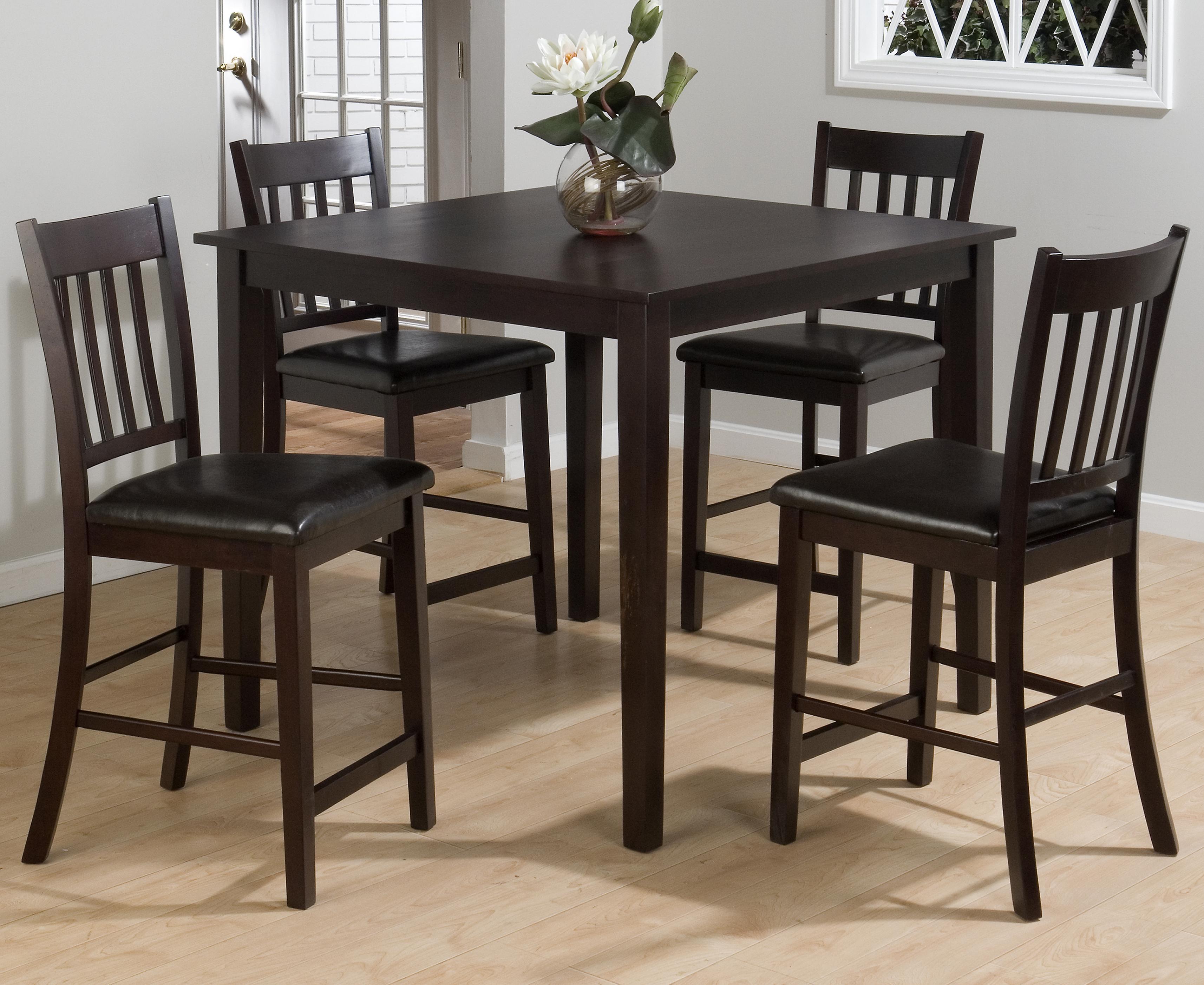 Marin County Merlot 5-Piece Pub Table Set by Jofran at A1 Furniture & Mattress