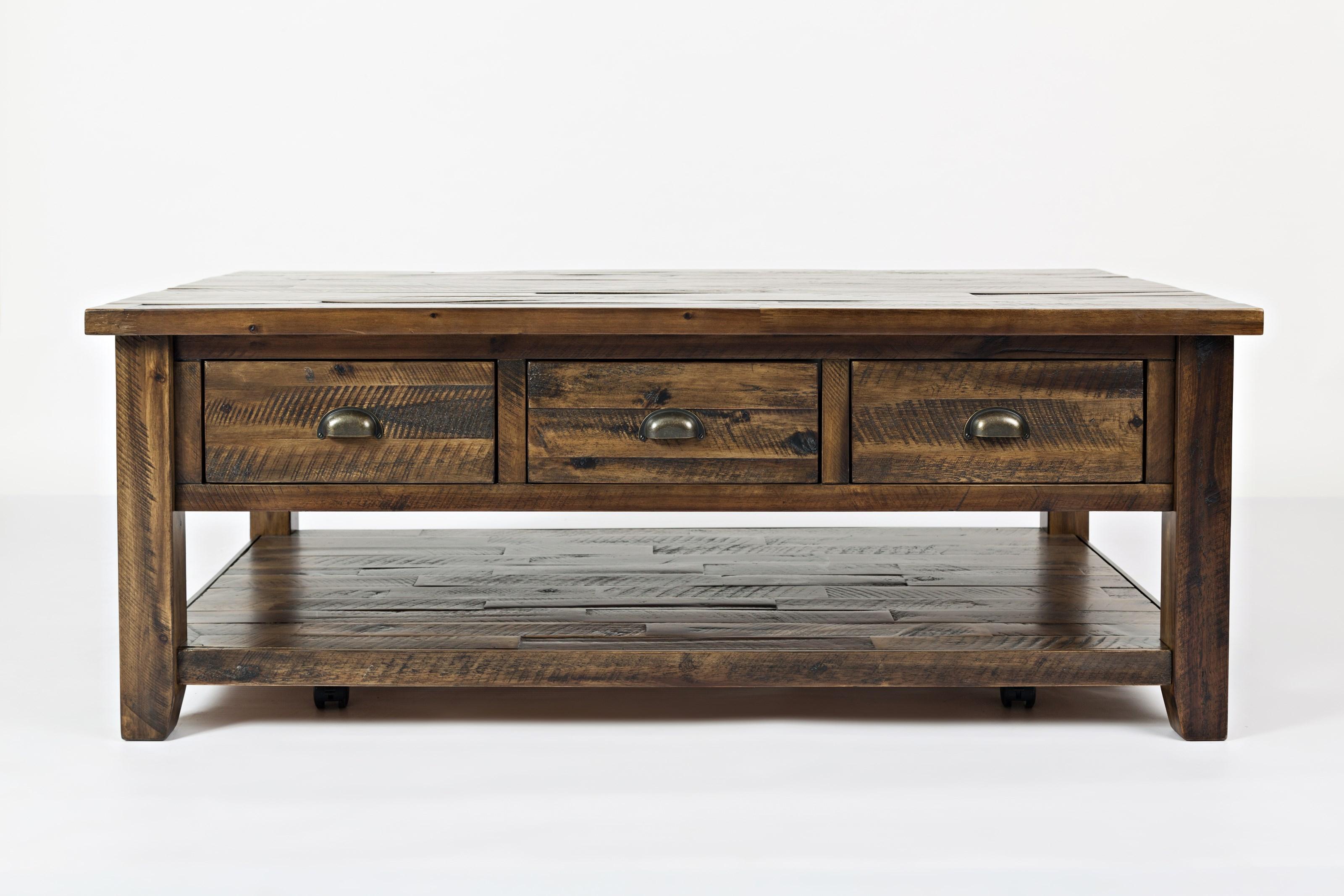 Artisan's Craft Cocktail Table by Jofran at Lapeer Furniture & Mattress Center