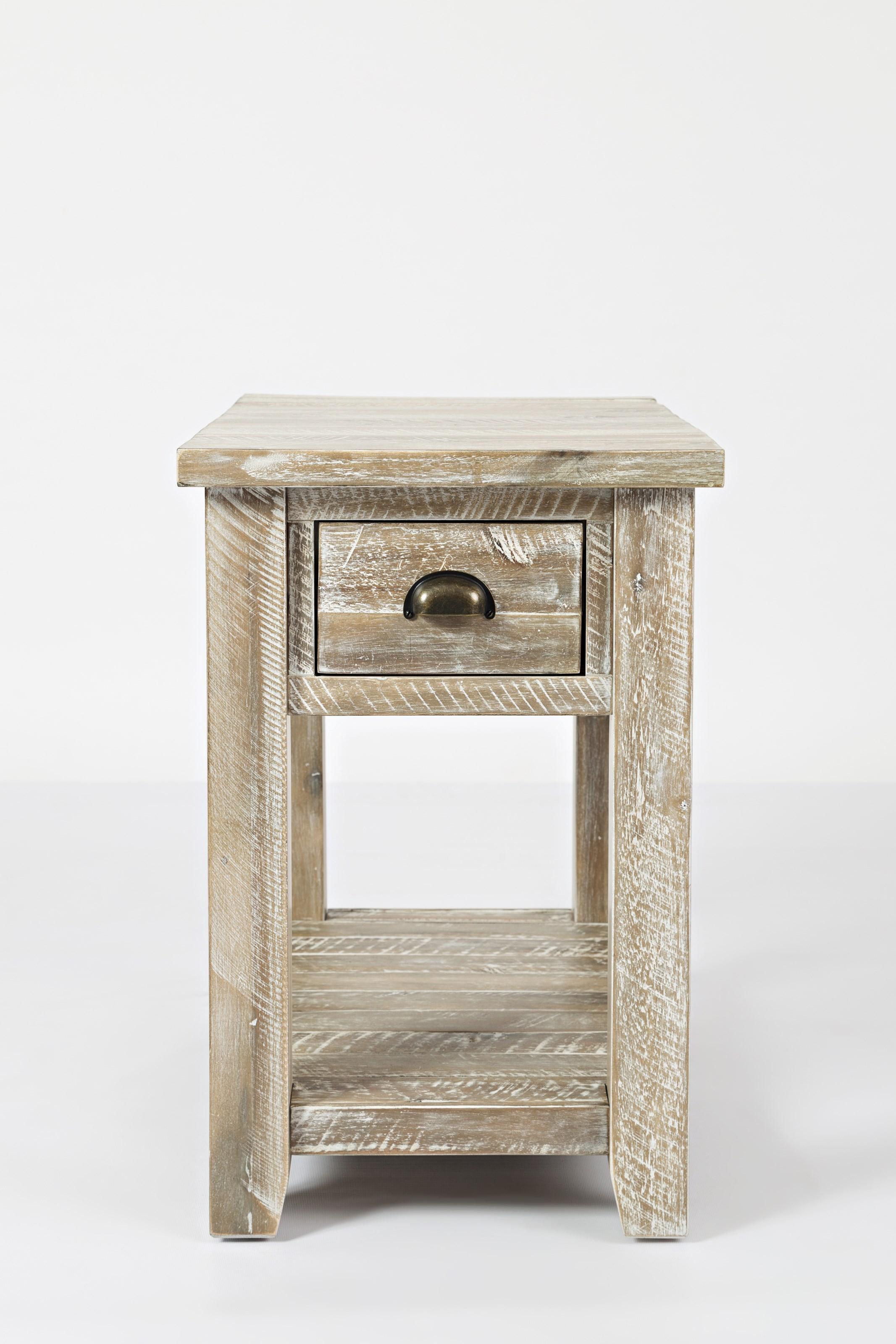 Artisan's Craft Chairside Table by Jofran at Lapeer Furniture & Mattress Center