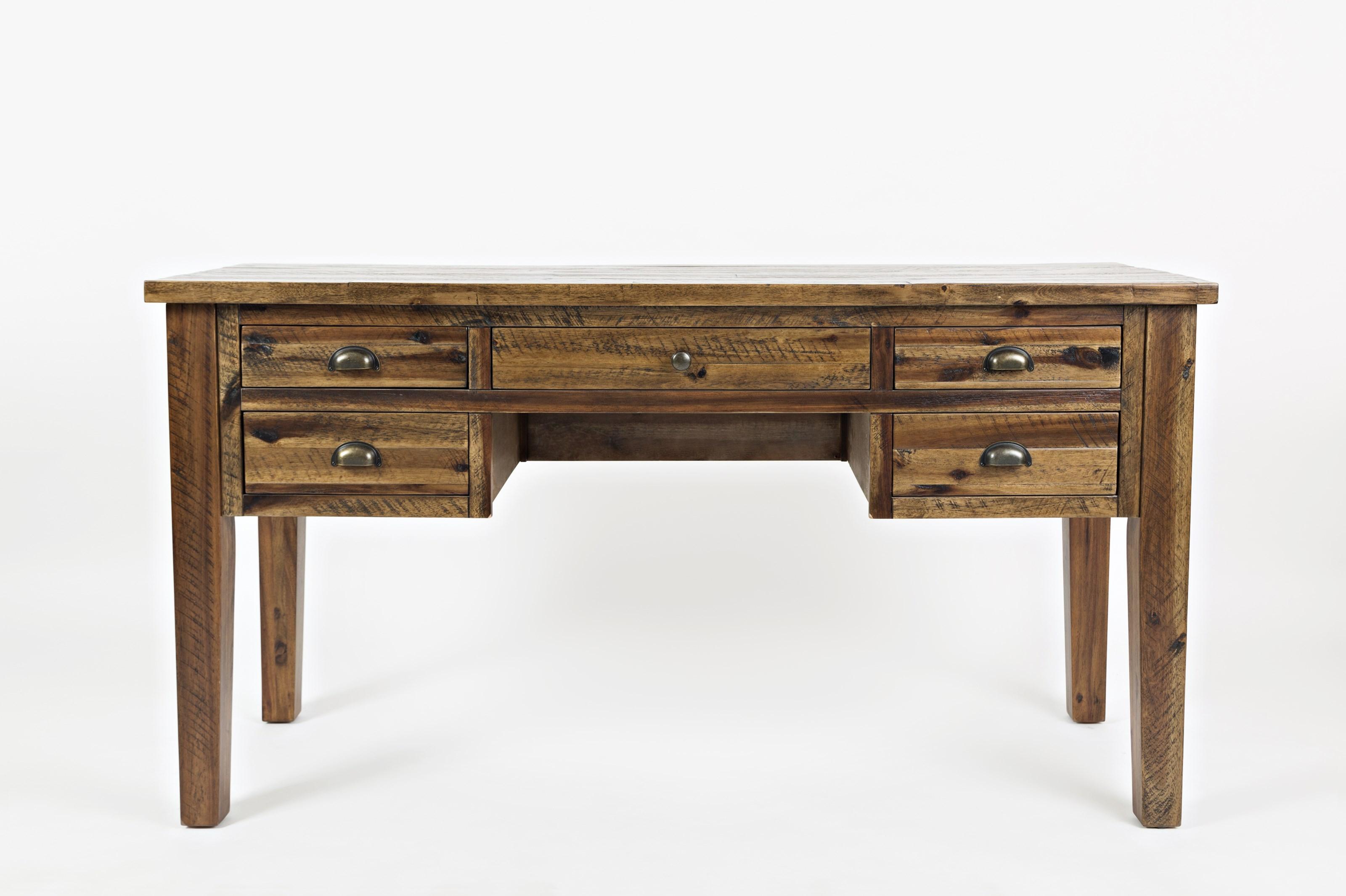 Artisan's Craft 5-Drawer Desk by Jofran at Home Furnishings Direct