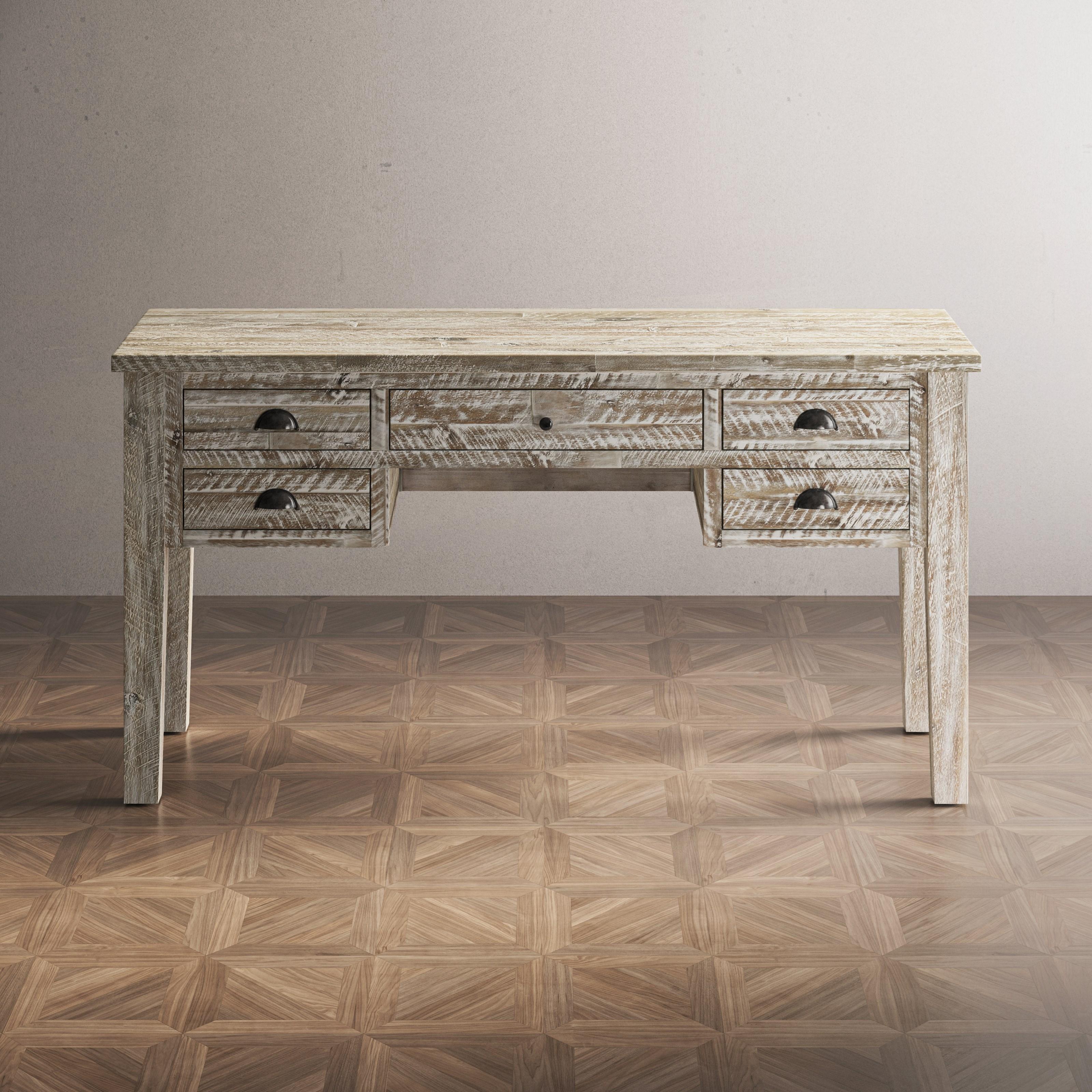 Artisan's Craft 5-Drawer Desk by Jofran at Stoney Creek Furniture