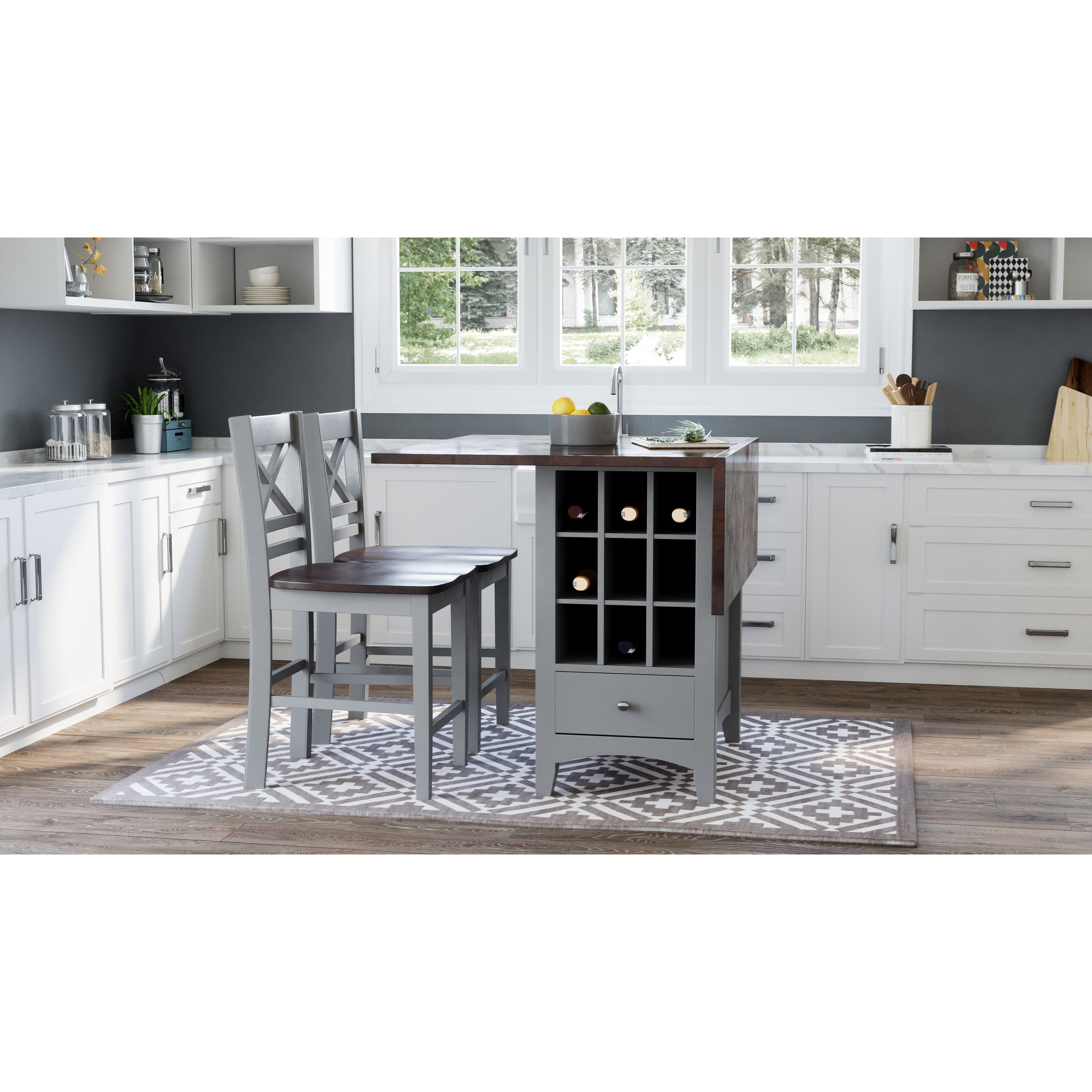 Asbury Park 3-Piece Counter Height Table and Stool Set by Jofran at Lapeer Furniture & Mattress Center